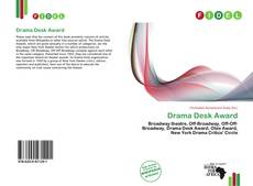 Portada del libro de Drama Desk Award