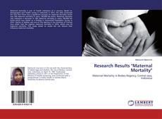 "Research Results ""Maternal Mortality""的封面"