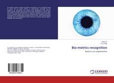 Bio-metrics recognition kitap kapağı