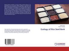 Portada del libro de Ecology of Rice Seed Bank