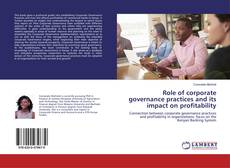 Buchcover von Role of corporate governance practices and its impact on profitability