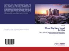Couverture de Moral Rights of Legal Entities