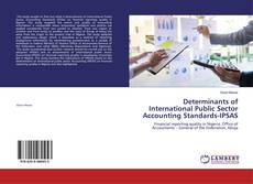 Capa do livro de Determinants of International Public Sector Accounting Standards-IPSAS