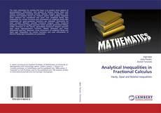Capa do livro de Analytical Inequalities in Fractional Calculus