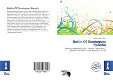 Capa do livro de Battle Of Dominguez Rancho
