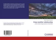 Capa do livro de Crop weather relationship