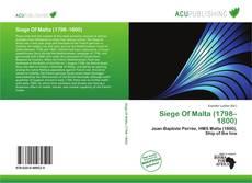 Siege Of Malta (1798–1800) kitap kapağı