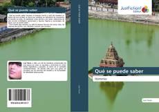 Bookcover of Qué se puede saber