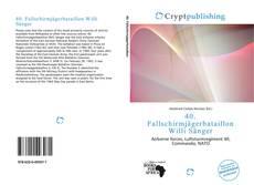 40. Fallschirmjägerbataillon Willi Sänger的封面
