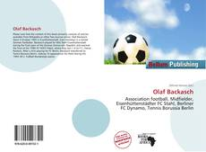 Couverture de Olaf Backasch