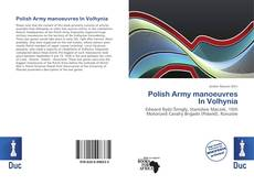 Bookcover of Polish Army manoeuvres In Volhynia