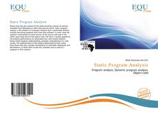 Portada del libro de Static Program Analysis