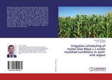 Bookcover of Irrigation scheduling of maize (Zea Mays L.) under mulched conditions in semi-arid region