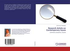 Bookcover of Research Article on Contemporary Issues