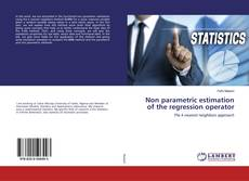 Capa do livro de Non parametric estimation of the regression operator