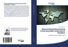 Decentralisatiehervorming in het secundair onderwijs in Tanzania的封面