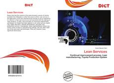 Bookcover of Lean Services