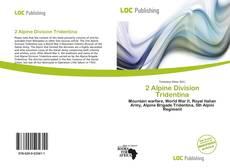 Bookcover of 2 Alpine Division Tridentina