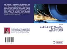 Couverture de Modified SPIHT Algorithm for HardwareImplementation