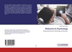 Bookcover of Welcome to Psychology