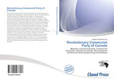 Bookcover of Revolutionary Communist Party of Canada