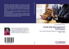 Portada del libro de Credit Risk Management Techniques