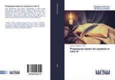 Couverture de Propozycje kazań do czytania w roku A