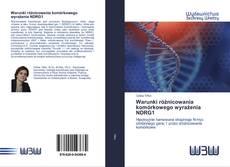 Bookcover of Warunki różnicowania komórkowego wyrażenia NDRG1
