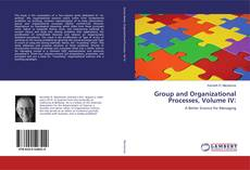 Bookcover of Group and Organizational Processes, Volume IV: