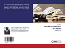 Capa do livro de Law on commercial companies