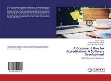 Buchcover von A Document Hive for Accreditation: A Software Development