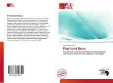 Portada del libro de Prashant Bose