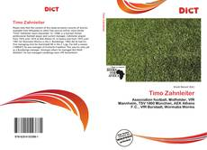 Bookcover of Timo Zahnleiter