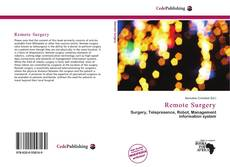Bookcover of Remote Surgery