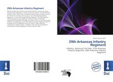 Bookcover of 29th Arkansas Infantry Regiment