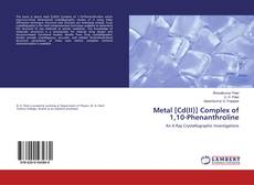 Buchcover von Metal [Cd(II)] Complex of 1,10-Phenanthroline