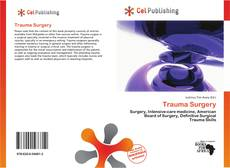 Bookcover of Trauma Surgery