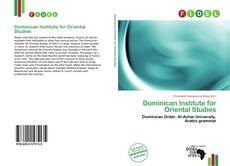 Bookcover of Dominican Institute for Oriental Studies