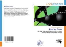 Обложка Stephen Boxer
