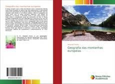 Borítókép a  Geografia das montanhas europeias - hoz