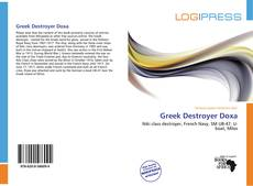 Bookcover of Greek Destroyer Doxa