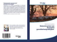 Обложка Determinanten van duurzame grondbeheerpraktijken