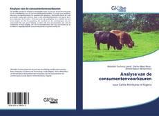 Bookcover of Analyse van de consumentenvoorkeuren