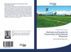Copertina di Methods and Studies for Preservation of the Natural Resources