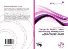 Copertina di Communist Bulletin Group