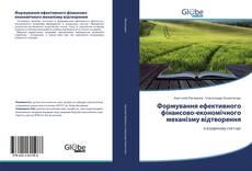 Portada del libro de Формування ефективного фінансово-економічного механізму відтворення