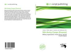 Capa do livro de 9th Army Corps (France)