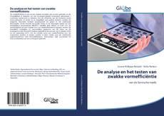 Bookcover of De analyse en het testen van zwakke vormeffici?ntie