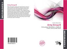 Bookcover of Army Group B