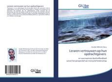 Bookcover of Leraren vertrouwen op hun opdrachtgevers
